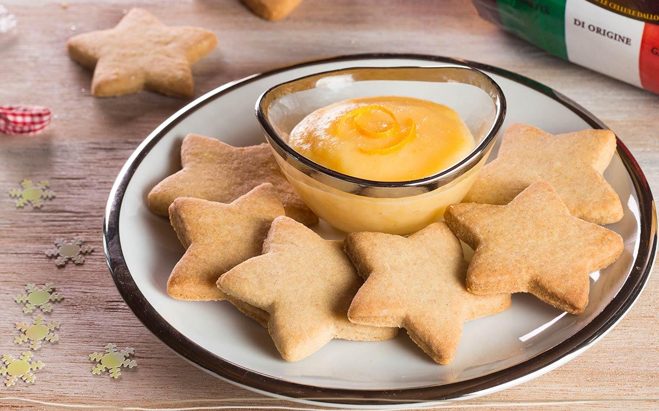 Biscotti alle patate e cannella con crema all'arancia - Ricette Selenella