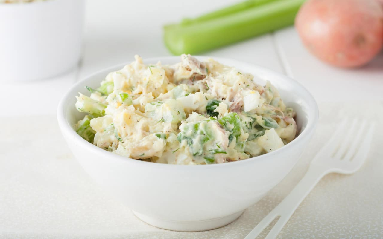 Insalata di pollo e patate novelle - Ricette Selenella