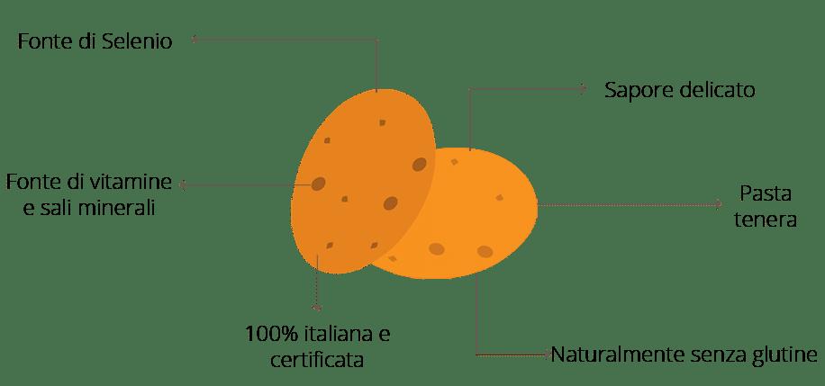 I benefici della patata novella Selenella