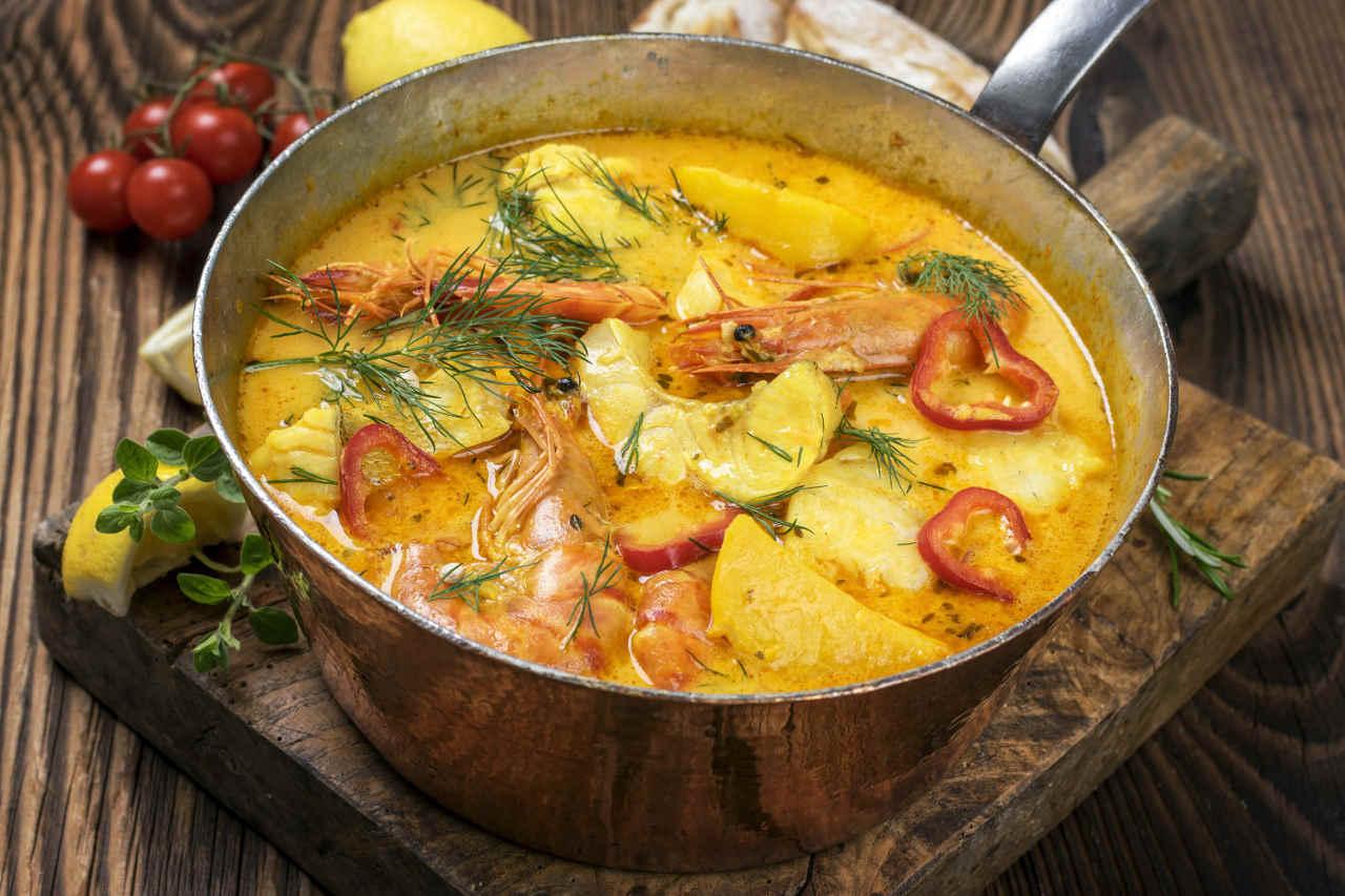 Terrina di patate con scampi - Ricette Selenella