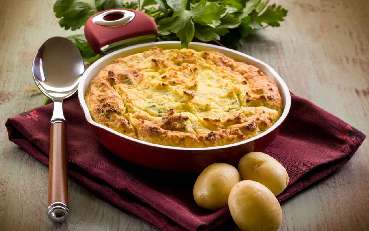Torta salata di patate - Ricette Selenella