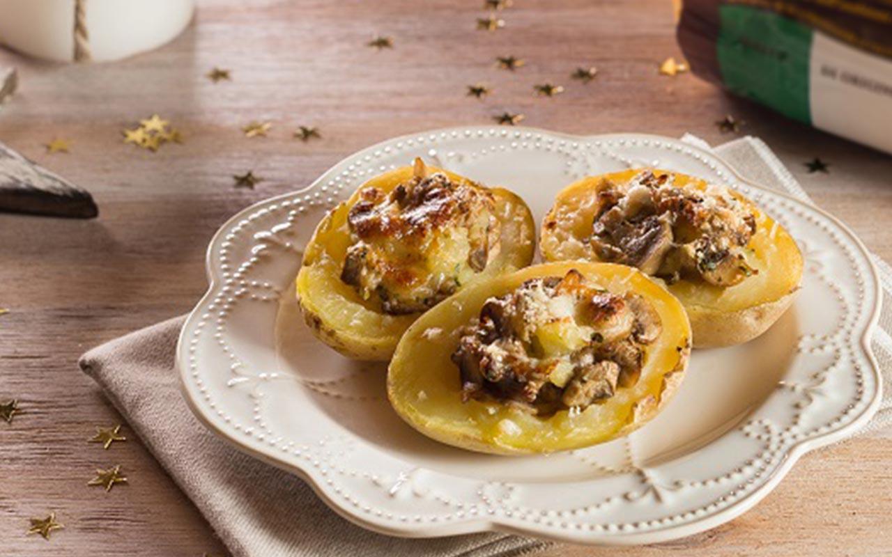 Barchette di patate ai funghi - Ricette Selenella
