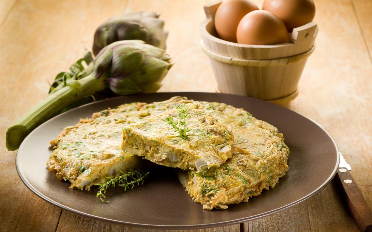 Frittata di patate e carciofi - Ricette Selenella
