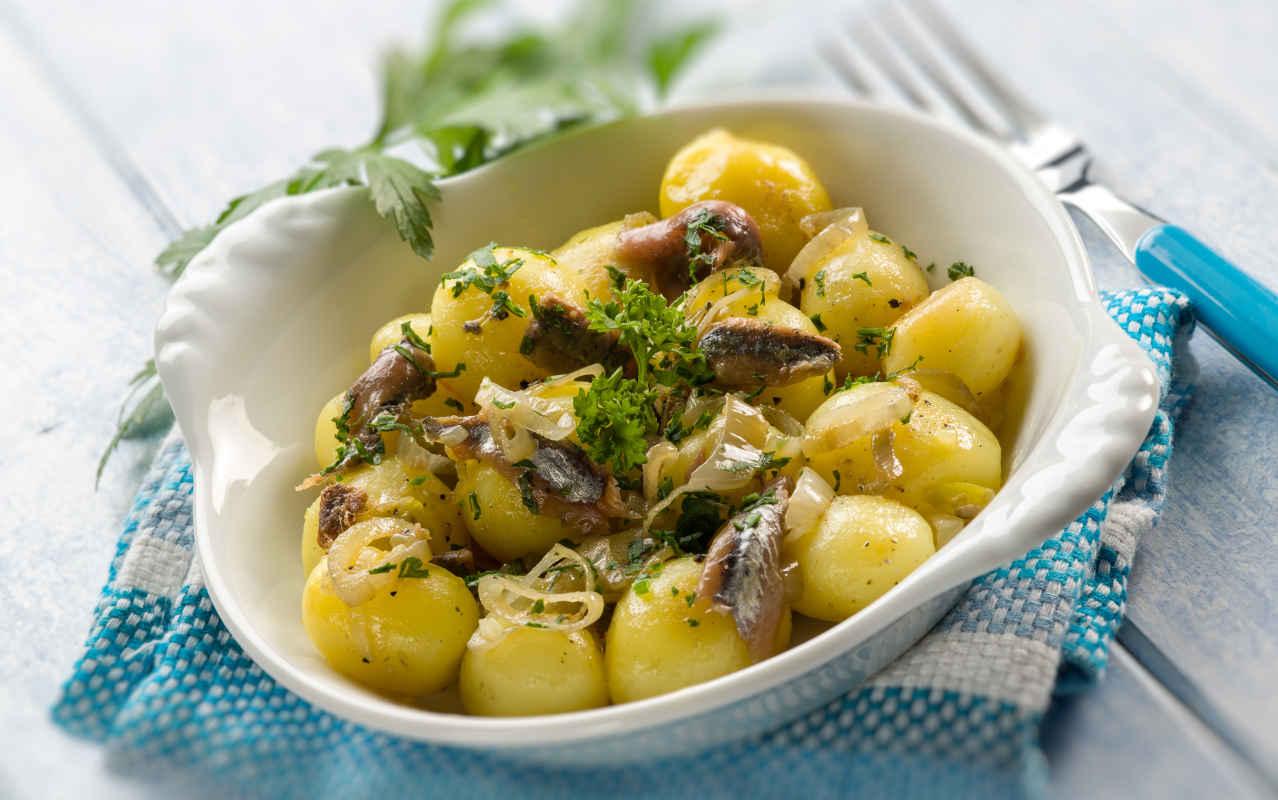 Insalata di patate al verde - Ricette Selenella
