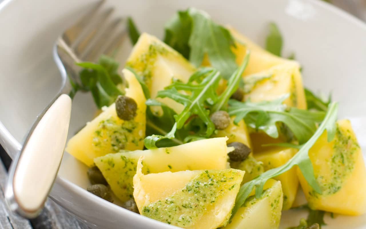 Insalata di patate pesto e rucola - Ricette Selenella