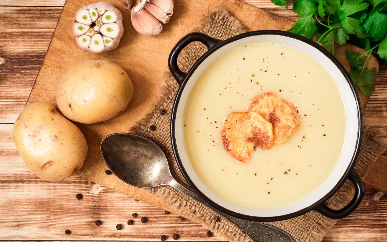 Minestra di patate e polenta - Ricette Selenella