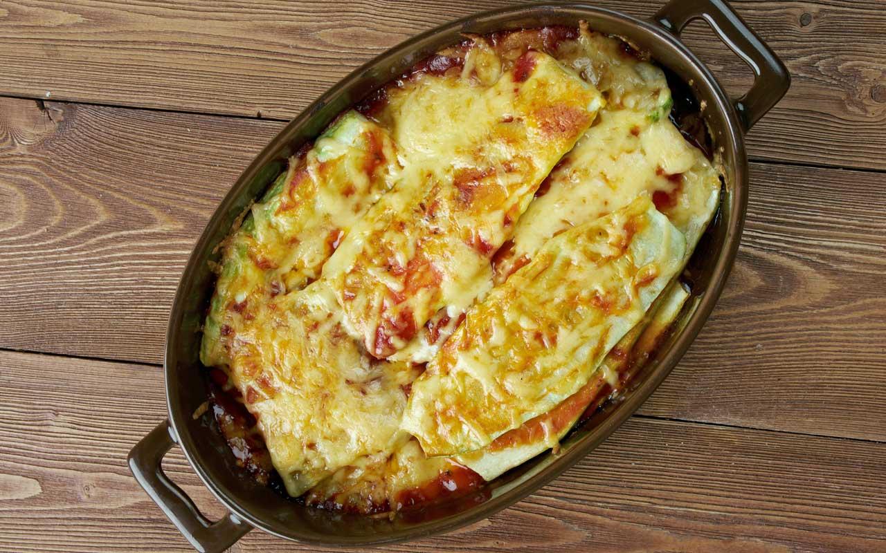 Parmigiana di patate e zucchine in padella - Ricette Selenella