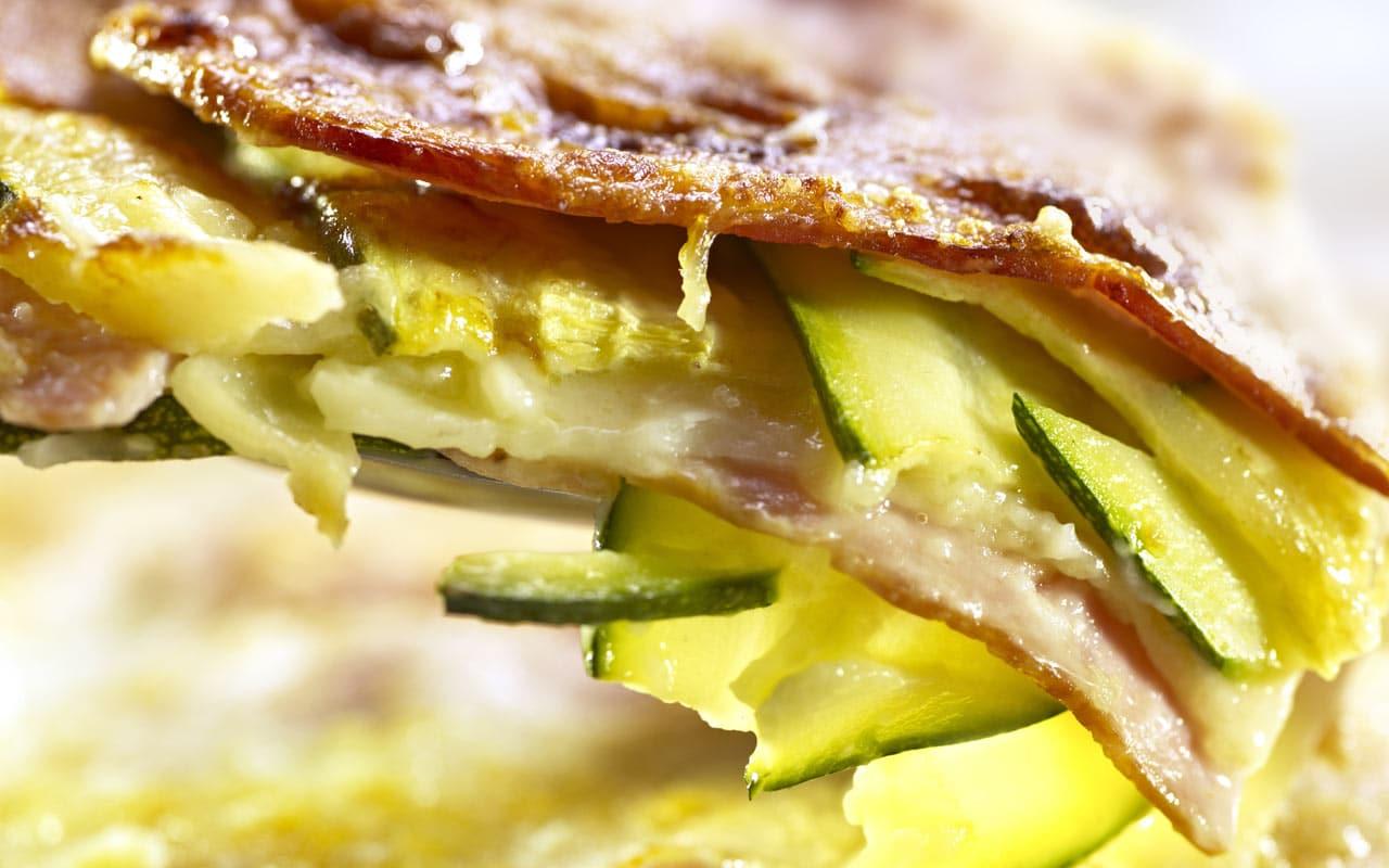 Pasta al forno con zucchine e patate Selenella - Ricette Selenella
