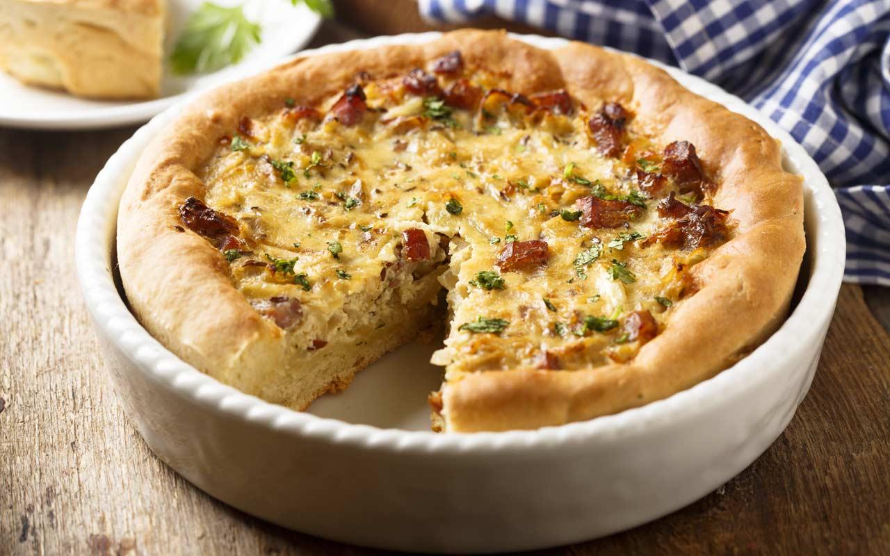 Torta salata con patate e speck - Ricette Selenella