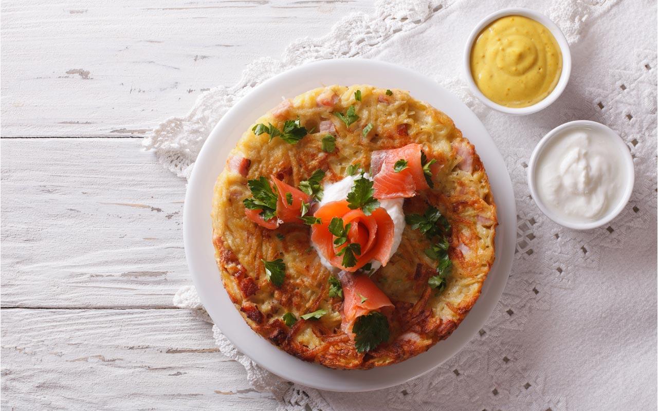 Tortino di patate con salmone affumicato - Ricette Selenella