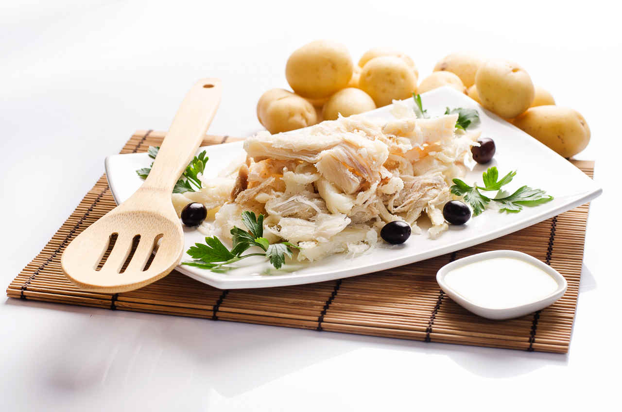 Baccalà mantecato su letto di patate al forno Selenella - Ricette Selenella