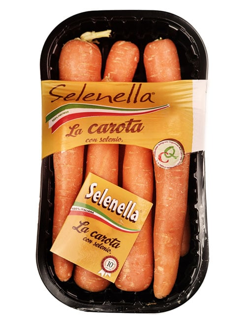 Prodotto Selenella confezione Carote