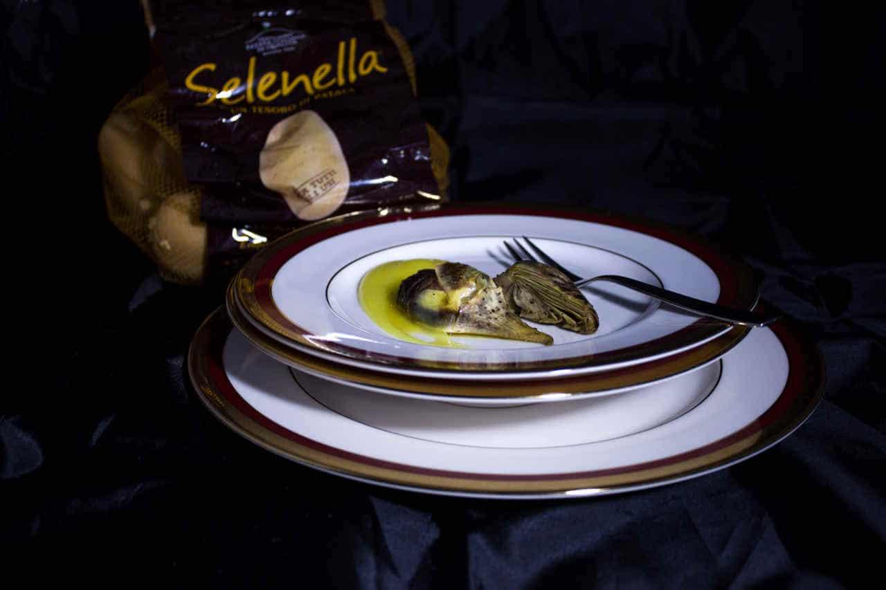 Carciofi alla citronette di senape su crema di patate allo zafferano di Lisa Corsoni - Ricette Selenella