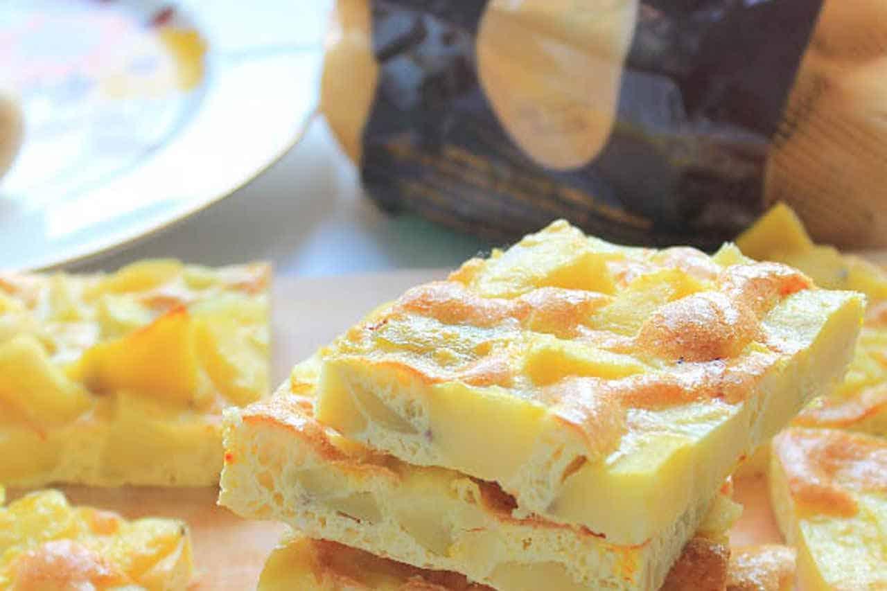 Frittata di patate allo zafferano di Irene Bombarda - Ricette Selenella