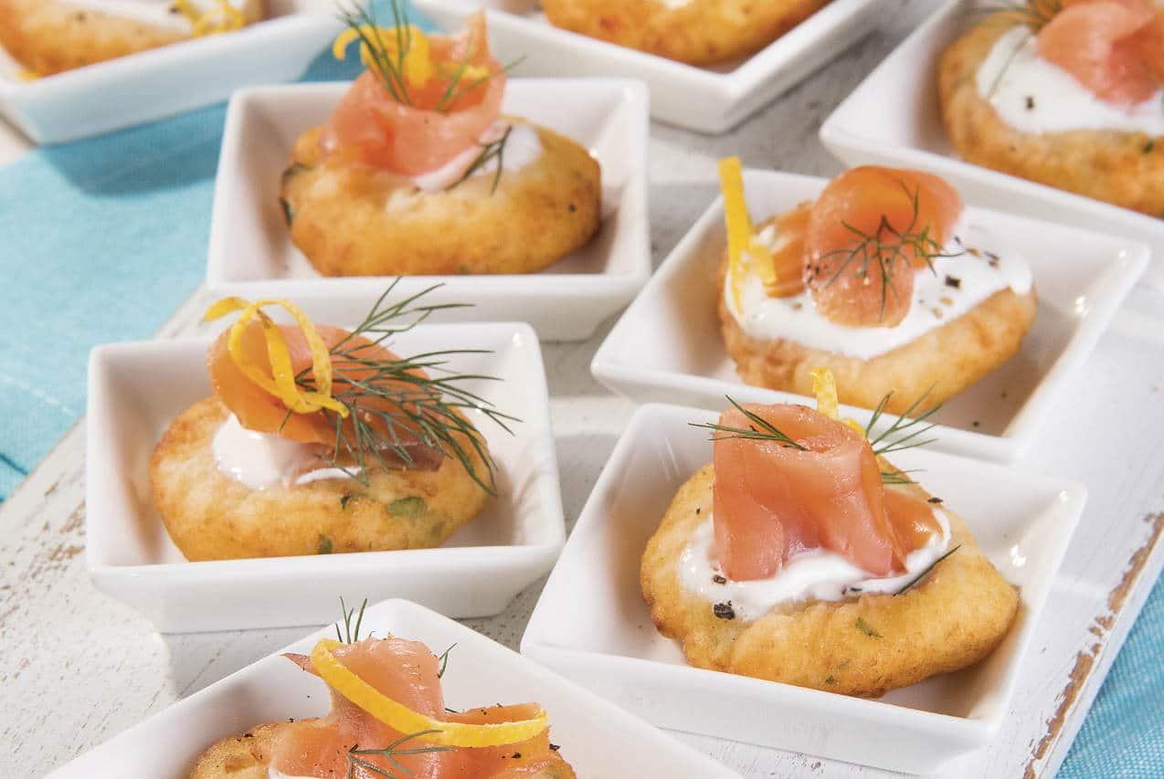 Frittelline di patate con salmone - Ricette Selenella