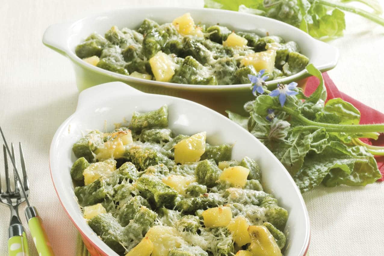 Gnocchetti verdi con patate - Ricette Selenella