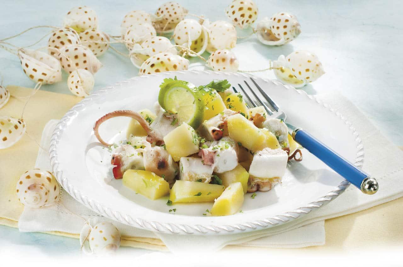 Insalata classica di polpo e patate - Ricette Selenella