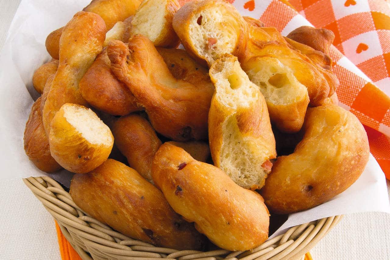 Zeppole fritte con pancetta - Ricette Selenella
