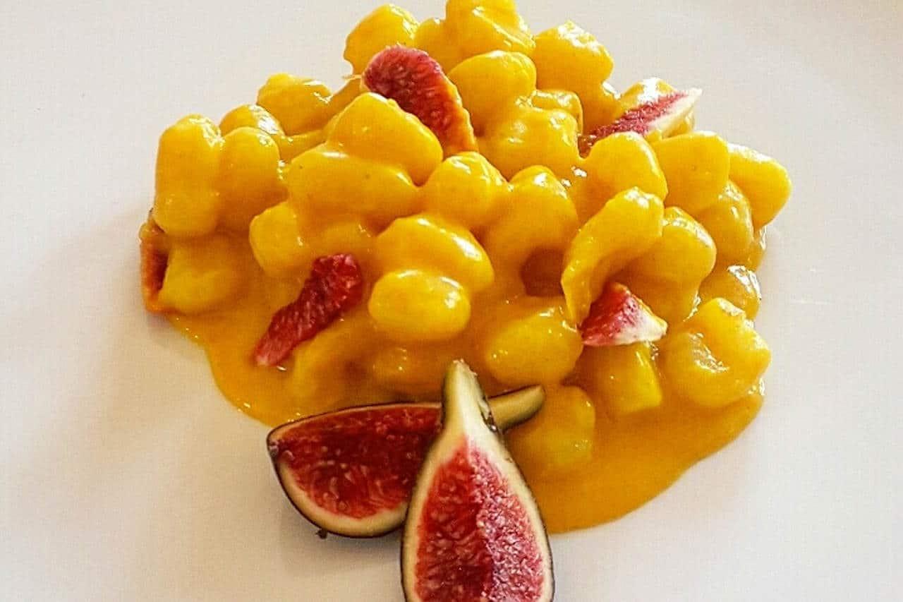 Gnocchetti con le patate, taleggio, curcuma e fichi di Gloria di ideeperlapentola - Ricette Selenella