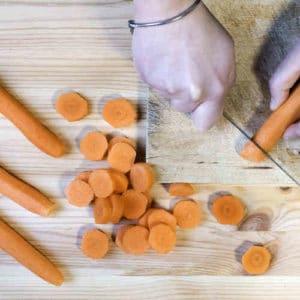 Taglio delle carote