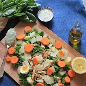Insalata di pollo, patate e carote - Ricette Selenella