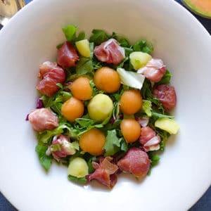 Insalata di Patate, Melone, Prosciutto crudo e Primo sale - Ricette Selenella