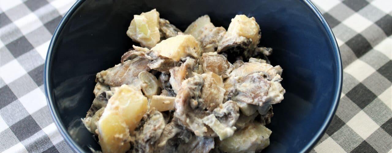 Insalata di patate, funghi e yogurt - Ricette Selenella