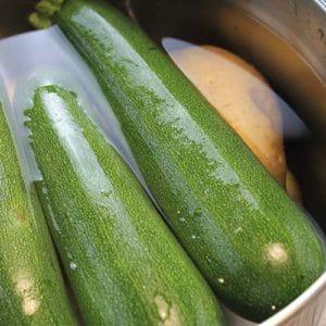Bollite le zucchine e le patate
